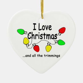 I Love Christmas Ornaments
