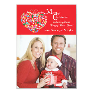 I Love Christmas Photo Card Personalized Invite