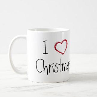 I love Christmas Pig mug