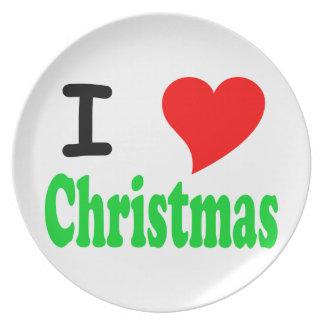 I Love Christmas Plate