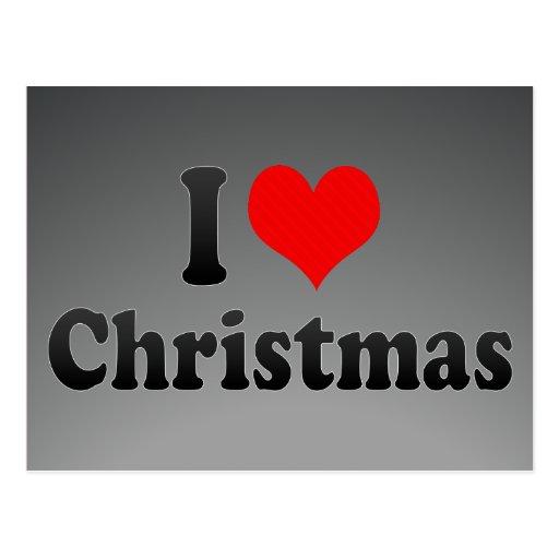 I love Christmas Post Cards