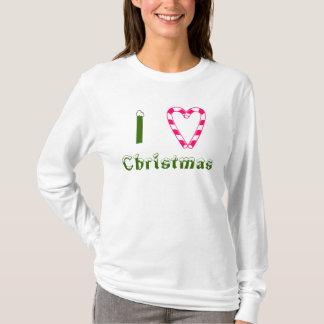 I Love Christmas Shirt Candy Cane Heart