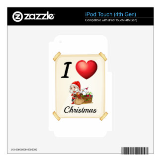 I love Christmas Skins For iPod Touch 4G