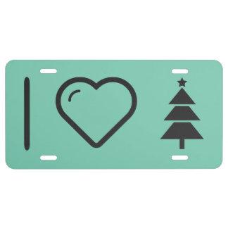 I Love Christmas Spirit License Plate