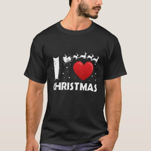 I Love Christmas T_Shirt