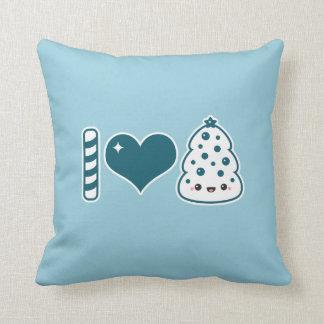 I Love Christmas Throw Pillow
