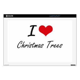 I love Christmas Trees Artistic Design Skins For Laptops