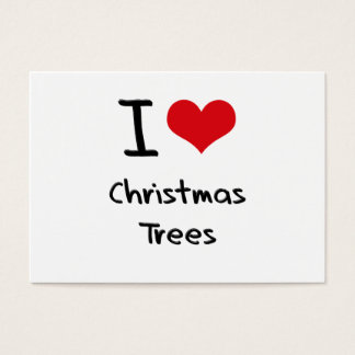 I love Christmas Trees Business Card