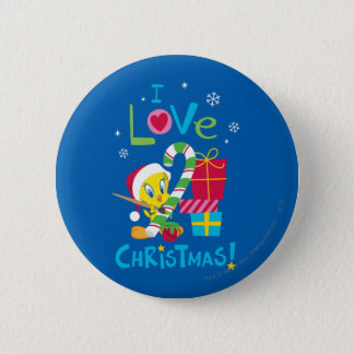 I Love Christmas - TWEETY™ Pinback Button