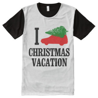 I Love Christmas Vacation All-Over Print T-shirt