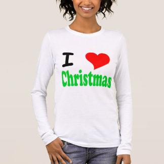 I Love Christmas Womens Long Sleeved T-Shirt