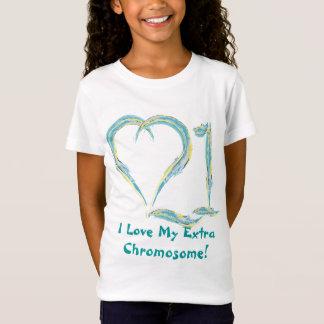 I Love Chromosome 21 T-Shirt