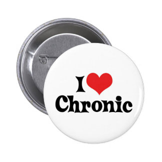 I Love Chronic Weed Pinback Button