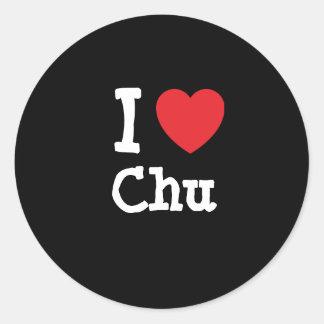 I love Chu heart T-Shirt Stickers
