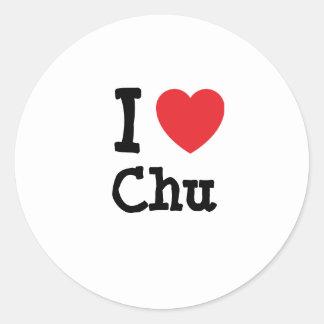 I love Chu heart T-Shirt Sticker