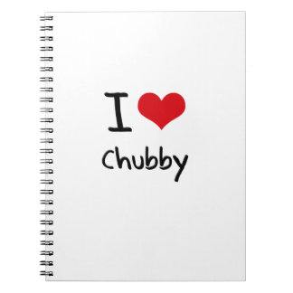 I love Chubby Spiral Notebook