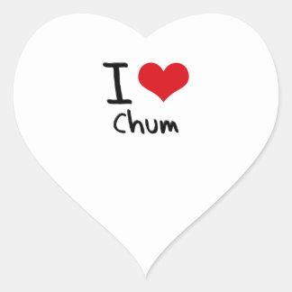 I love Chum Stickers