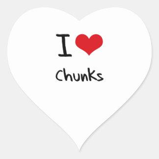 I love Chunks Sticker