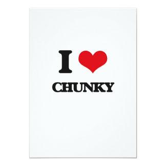 I love Chunky 5x7 Paper Invitation Card