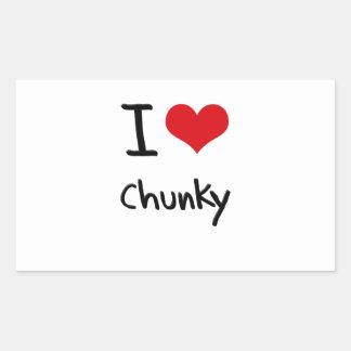 I love Chunky Rectangle Sticker
