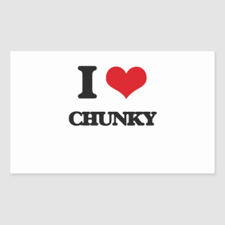 I love Chunky Rectangle Stickers