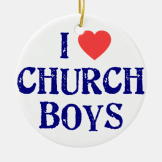 I love church boys ceramic ornament