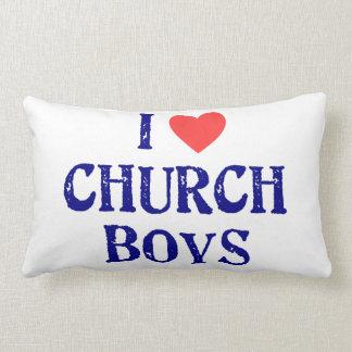 I love church boys lumbar pillow