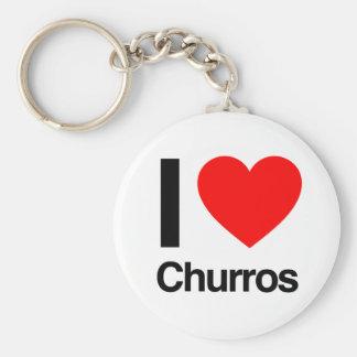 i love churros keychain