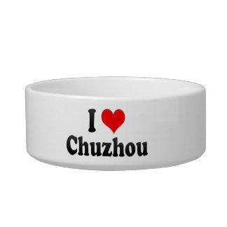 I Love Chuzhou, China. Wo Ai Chuzhou, China Cat Water Bowl