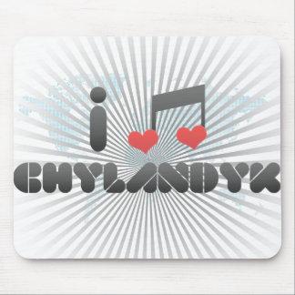 I Love Chylandyk Mouse Pad