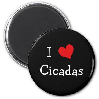 I Love Cicadas 2 Inch Round Magnet