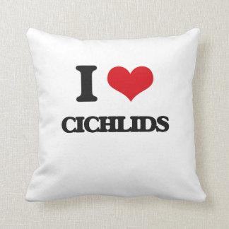 I love Cichlids Throw Pillow