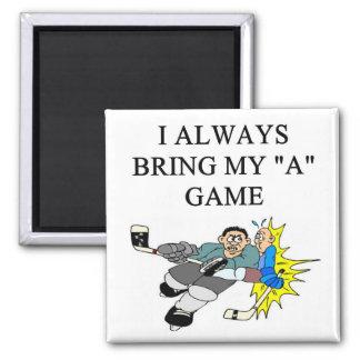 i love cie hokey 2 inch square magnet
