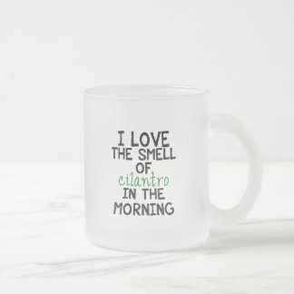 I Love Cilantro Frosted Glass Coffee Mug
