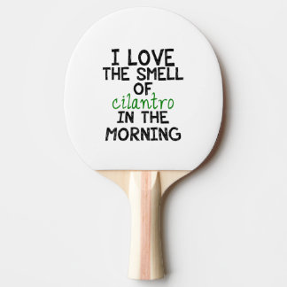 I Love Cilantro (Personalize Background) Ping-Pong Paddle