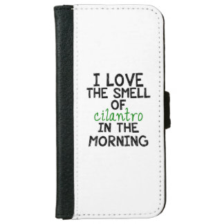 I Love Cilantro (Personalize Background) iPhone 6 Wallet Case