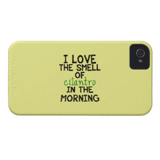 I Love Cilantro - Yellow Background iPhone 4 Covers