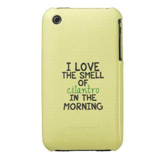 I Love Cilantro - Yellow Background iPhone 3 Case-Mate Cases