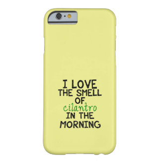 I Love Cilantro - Yellow Background Barely There iPhone 6 Case