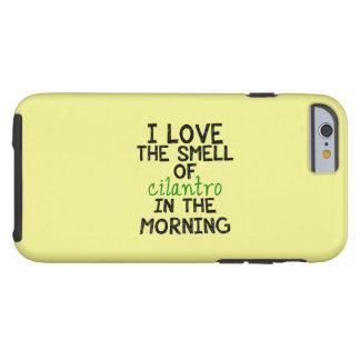 I Love Cilantro - Yellow Background Tough iPhone 6 Case