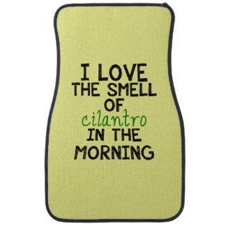 I Love Cilantro - Yellow Background Floor Mat