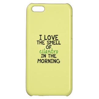 I Love Cilantro - Yellow Background iPhone 5C Cases