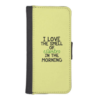 I Love Cilantro - Yellow Background iPhone 5 Wallets