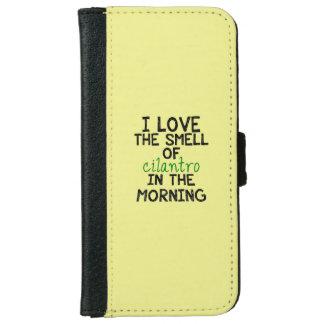 I Love Cilantro - Yellow Background iPhone 6 Wallet Case