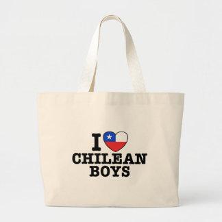 I Love Cilean Boys Large Tote Bag
