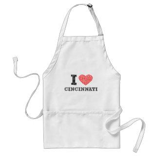 I-Love-Cincinnati Adult Apron