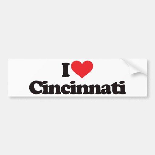 I Love Cincinnati Bumper Stickers
