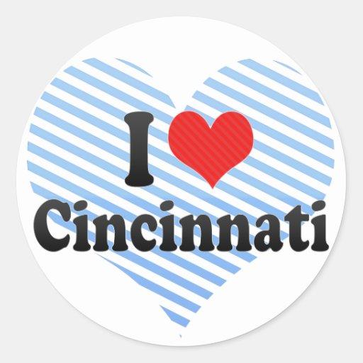 I Love Cincinnati Classic Round Sticker