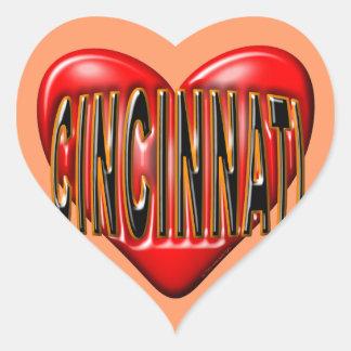 I Love Cincinnati Heart Sticker