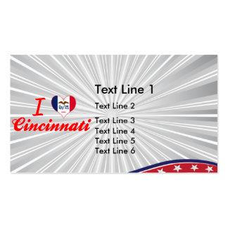 I Love Cincinnati, Iowa Business Card Template